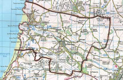 Ordnance Survey re produced under licence No100046516 27th October 2006